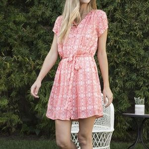 Cute Coral Shirt Dress from Golden Tote